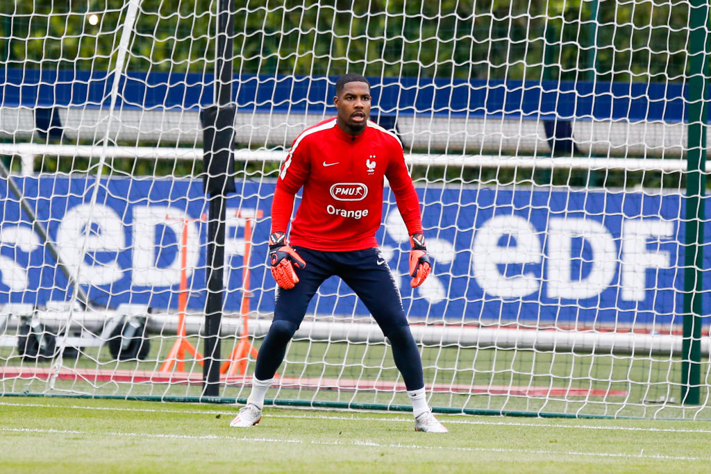 Mike Maignan of France during the training session of the French Football Team on May 30, 2019 in Clairefontaine, France. (Photo by Johnny Fidelin/Icon Sport via Getty Images)