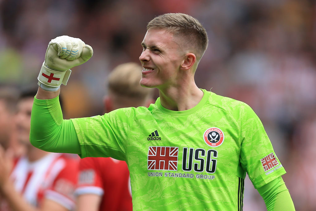 Dean Henderson is ready to provide proper competition to David de Gea. Dean Henderson celebrates for Sheffield United, on loan from Manchester United, in the Premier League.