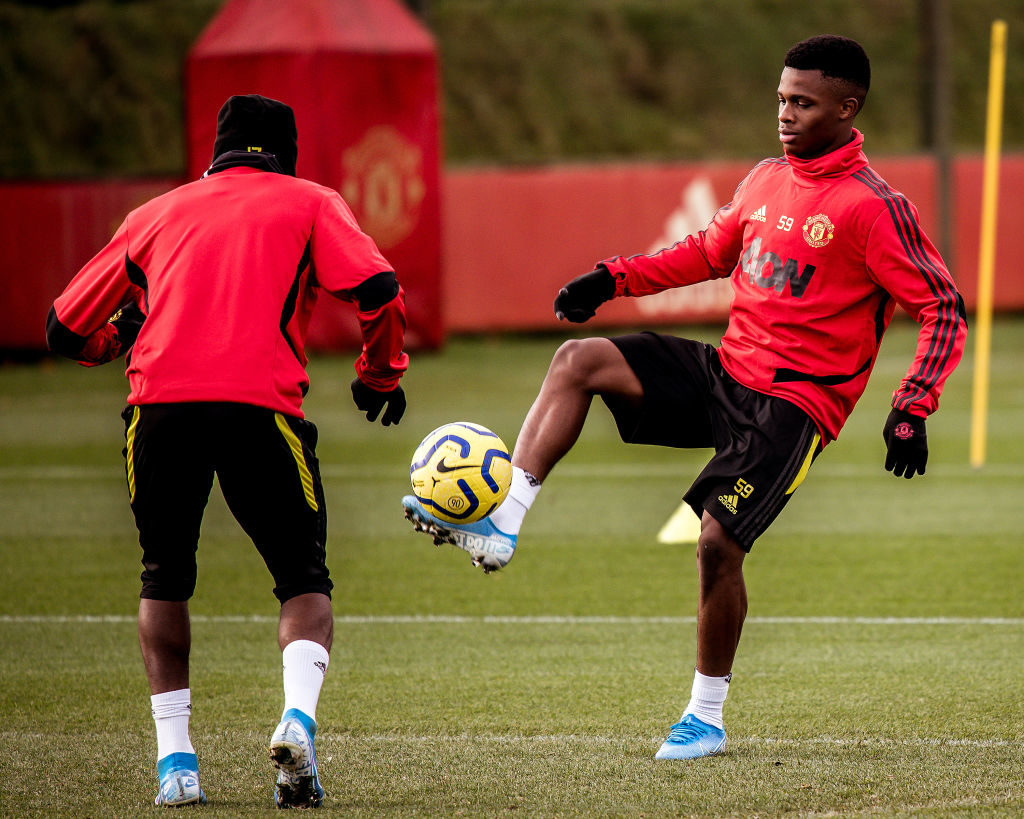 Ramazani, Bernard and young striker train with Manchester United first team