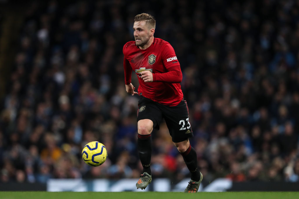 Some Manchester United fans react to Luke Shaw's performance v City