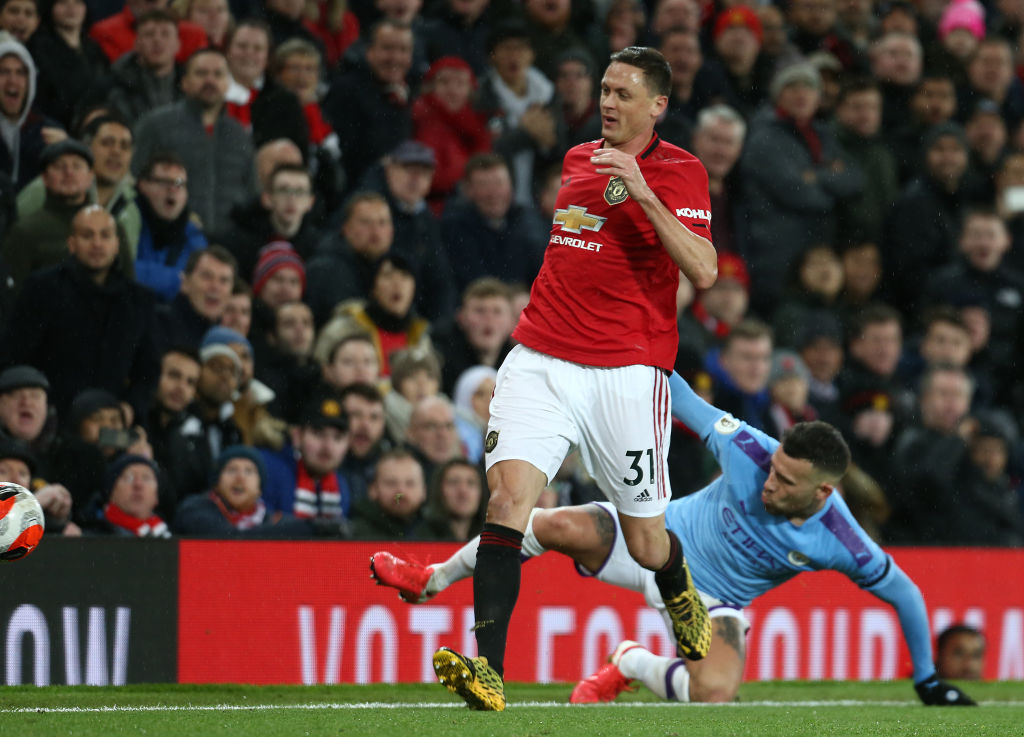 MANCHESTER, ENGLAND - MARCH 08: Nemanja Matic of Manchester United in action during the Premier League match between Manchester United and Manchester City at Old Trafford on March 08, 2020 in Manchester, United Kingdom. (Photo by Tom Purslow/Manchester United via Getty Images)