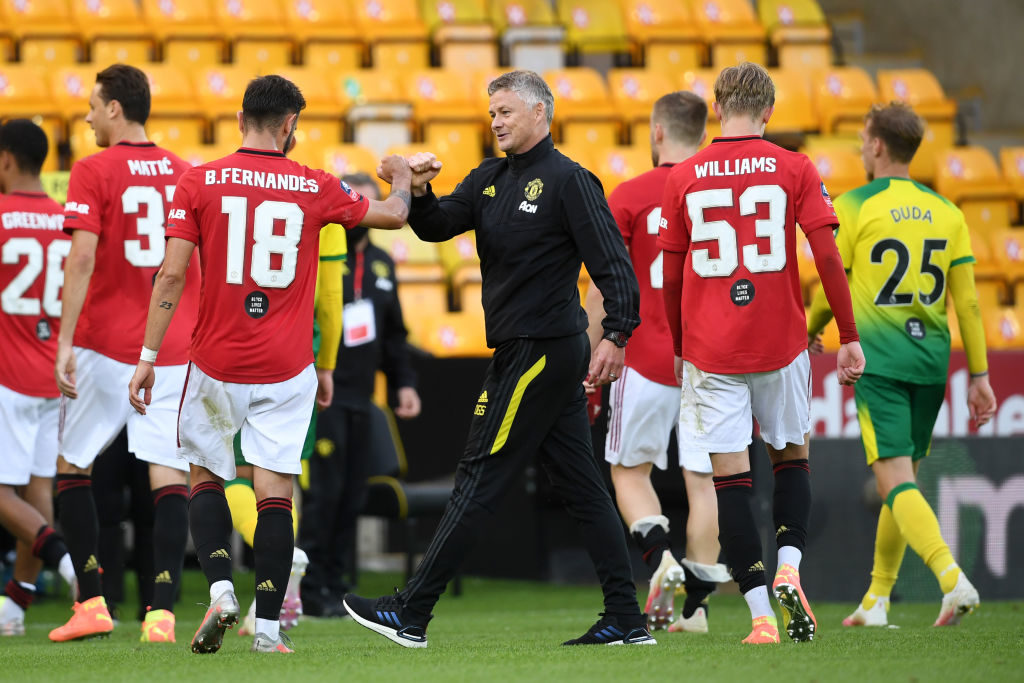 Solskjaer challenges United to go unbeaten for rest of season