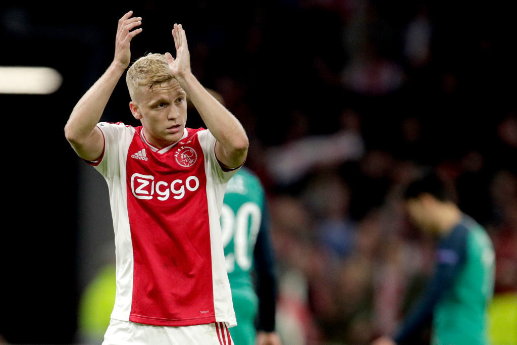 Ajax star Donny Van De Beek is set to join Manchester United