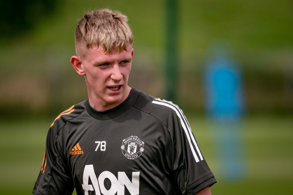 New Academy Signings Hugill And Pye Pictured Training As Manchester United U18s Return United In Focus