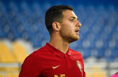 Diogo Dalot from Portugal seen in action during the UEFA