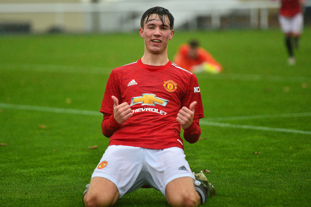 Charlie McNeill scored his fourth goal of the season for Manchester United U18 in the Reds' game against Wolves in the U18 Premier League.