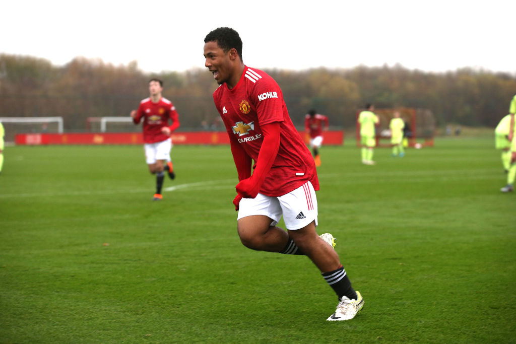 Frenchman makes Manchester United under-23 debut as Dutchman registers first assist