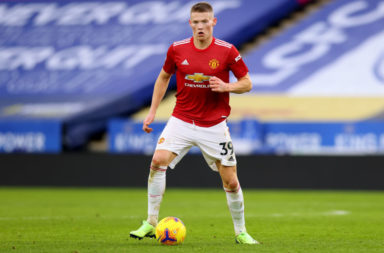 Scott McTominay of Manchester United in action during the