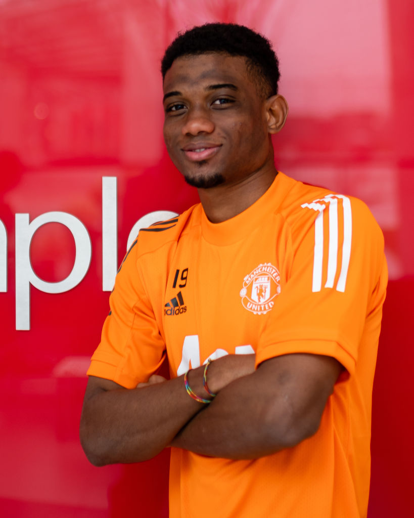 Amad Diallo Arrives for his First Day at Manchester United