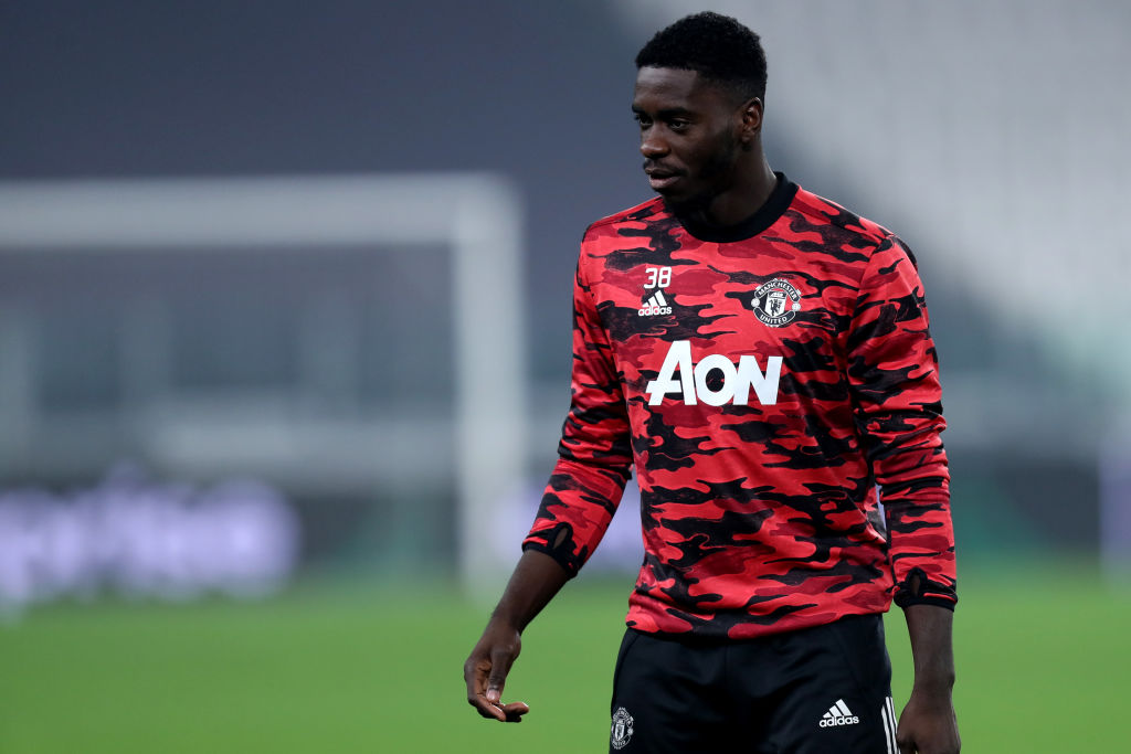 Axel Tuanzebe of Manchester United Fc  looks on during warm