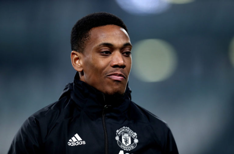 Anthony Martial of Manchester United Fc  looks on during