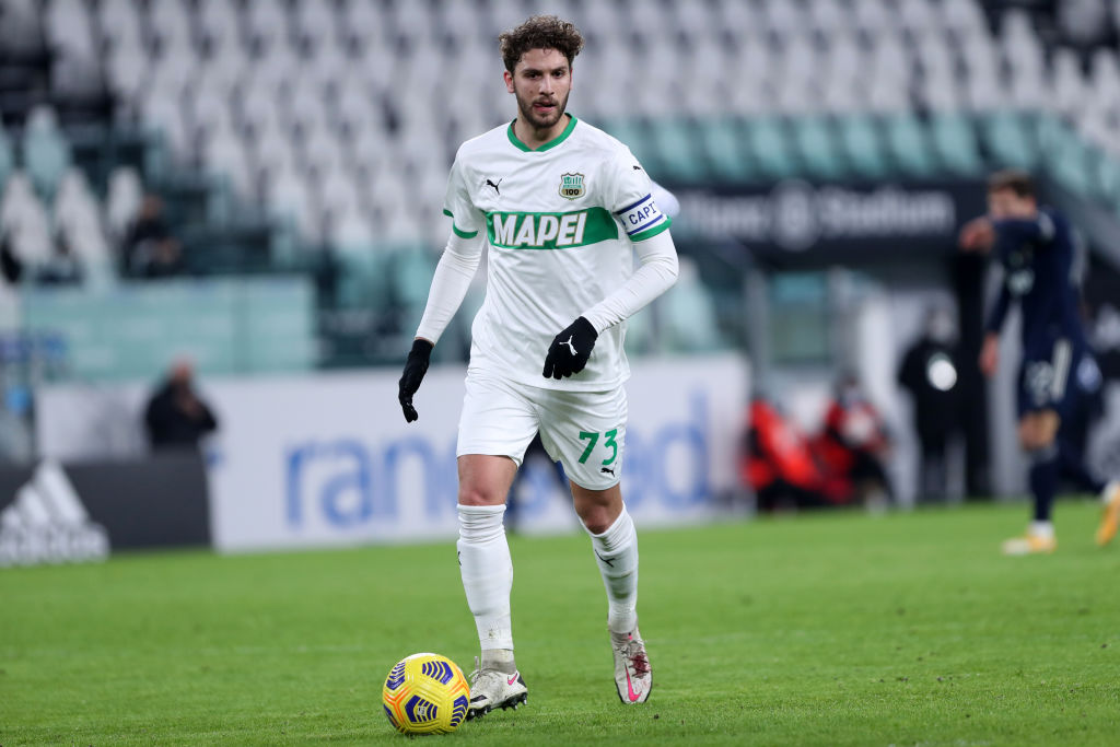 Manuel Locatelli of Us Sassuolo  in action during the Serie