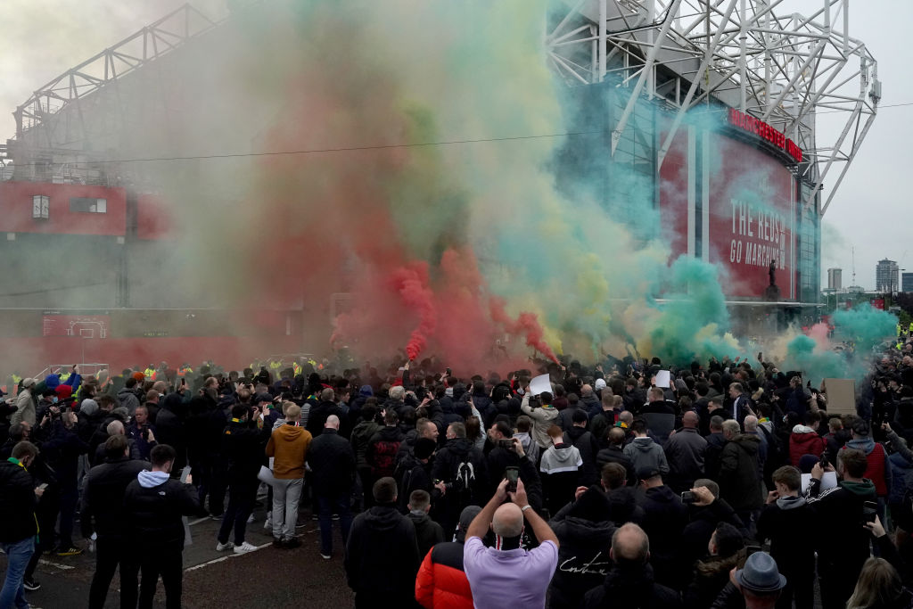 Manchester United Fans Protest Against Glazer Family Ownership