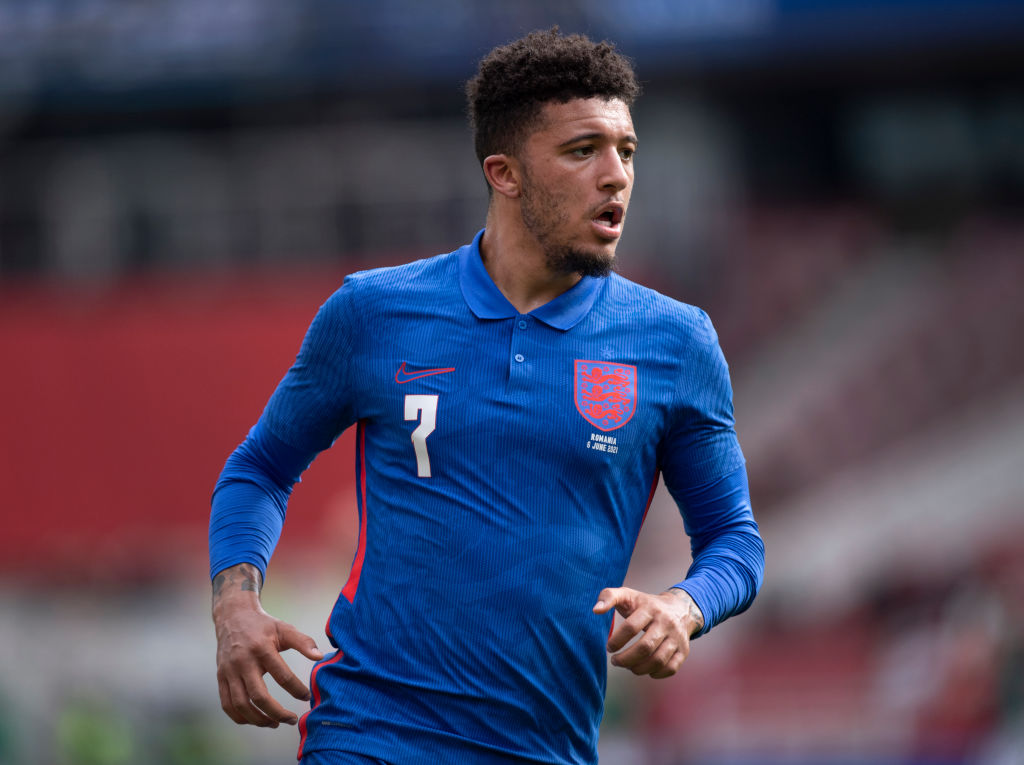 Jadon Sancho is with the England squad