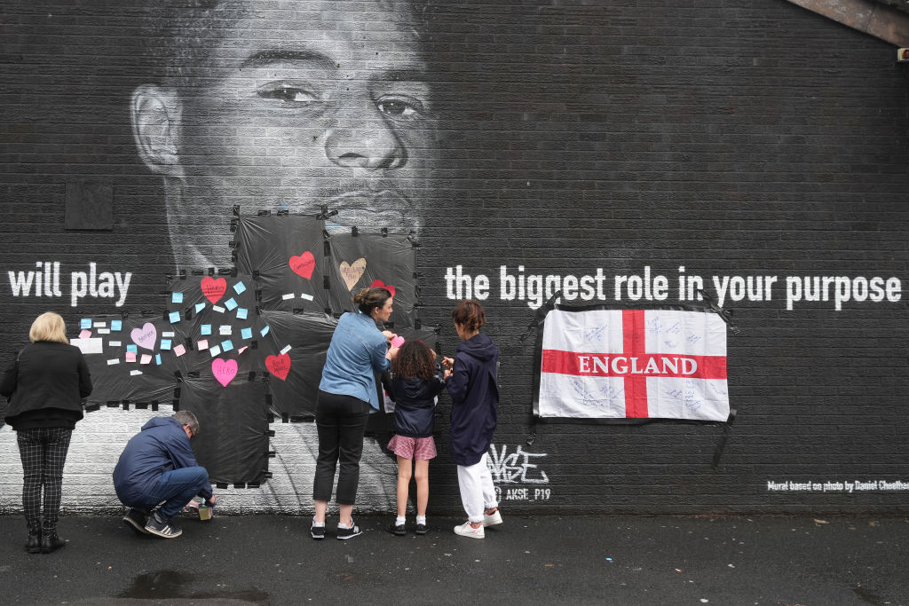 Mural Of Marcus Rashford Defaced In Manchester After Euros Loss