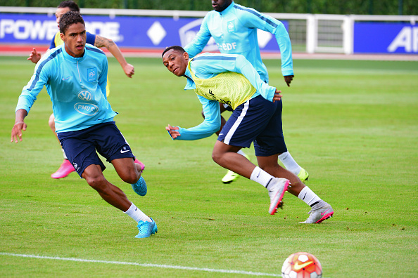 France Soccer Team Training Session At Clairefontaine