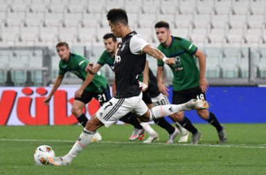 Cristiano Ronaldo of Juventus scores on penalty the goal of