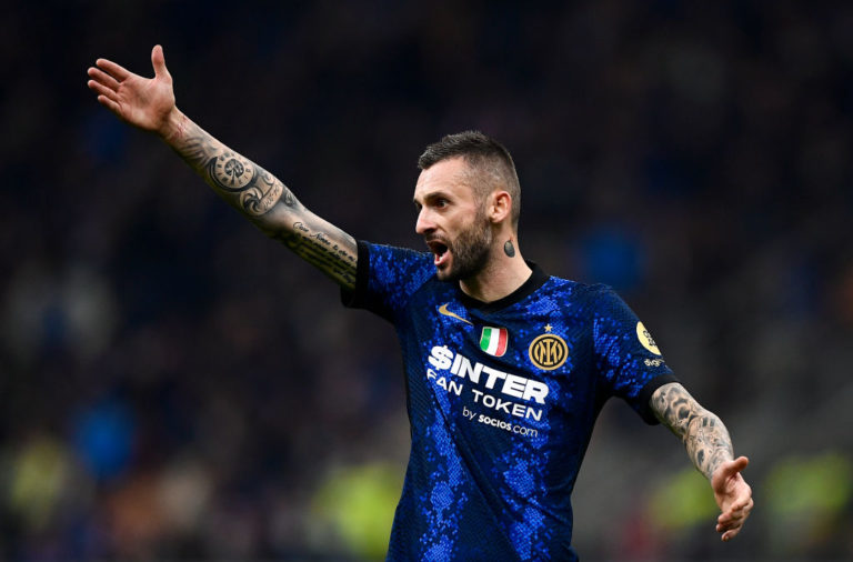 Marcelo Brozovic of FC Internazionale gestures during the